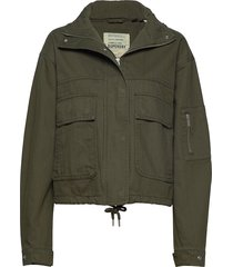bora cropped jacket outerwear jackets utility jackets groen superdry