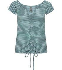maglia a costine con arricciatura (blu) - rainbow
