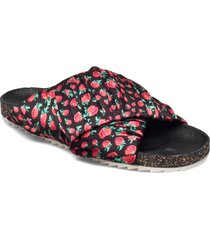 raspy strap sandal shoes summer shoes flat sandals svart becksöndergaard