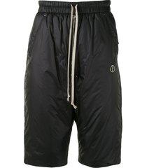 moncler + rick owens bela padded knee-length shorts - black