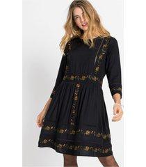 jurk met borduursel