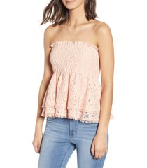women's endless rose strapless lace top