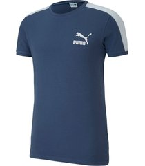 camiseta iconic t7 slim tee puma mujer 581558 43 azul
