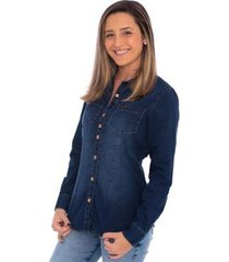 camisa jeans feminina aee surf