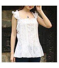 cotton blouse, 'summer lace' (india)