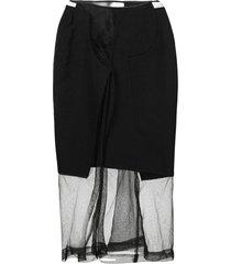 comme des garçons pre-owned 1997 netted sheer skirt - black