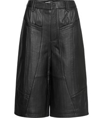 naloagz shorts ao20 shorts leather shorts svart gestuz