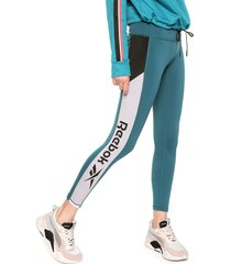 leggings verde-blanco-negro reebok workout ready