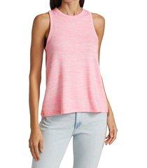 rag & bone women's the knit cropped tank - bright pink - size xs