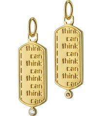 """i think i can"" diamond charm"