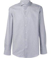 boss spread collar shirt - blue