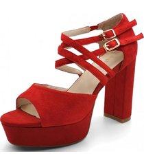 sandalia diana rojo toffy co.