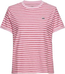 stripe tee t-shirts & tops short-sleeved rosa lee jeans