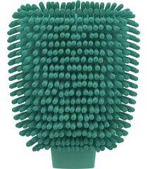 luva de microfibra verde flashlimp 26cm - verde - dafiti