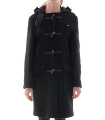 gloverall women's original duffle coat - black - lc3120fc-blk