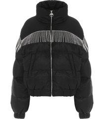 chiara ferragni crystal fringe jacket
