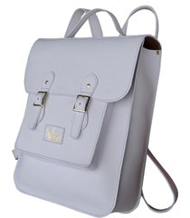 mochila line store leather satchel grande couro branco.