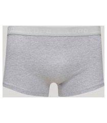 cueca masculina lupo sunga em algodão cinza mescla