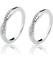 anel aparador de prata 925 com 20 pedras de zircônia de 1,25mm natália joias love