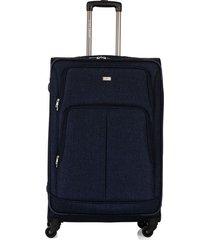 maleta de viaje grande en lona con cuatro ruedas giratorias 93074
