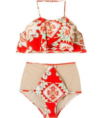adriana degreas printed bikini set - yellow