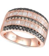 le vian exotics diamond multi-row statement ring (1-3/8 ct. t.w.) in 14k rose gold