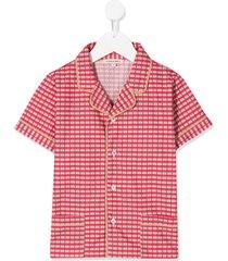caramel holborn checked shirt - red