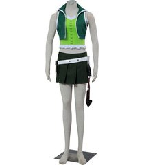 fairy tail lucy heartfilia 3 generation cosplay costume green sexy girl's suit