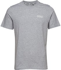 district clean tee m t-shirts short-sleeved grå craft
