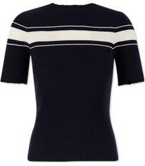 marella ribbed short-sleeve sweater