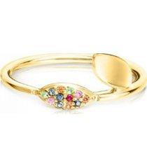 anillo tous real mix de vermeil dorado 812465561