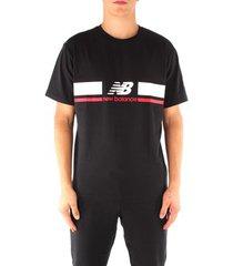 t-shirt korte mouw new balance mt93550bk