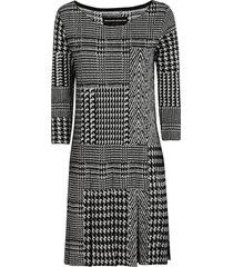 ermanno scervino quarter-length sleeve patterned dress