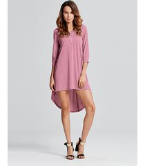 vestito irregolare del cotone del neckline solido di o neck del bicchierino delle donne sexy