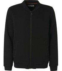 no excess sweater full zip jacquard black