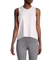 spiritual gangster women's open-side sleeveless tank top - ballet pink - size m/l