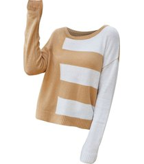 colorblock drop shoulder sweater