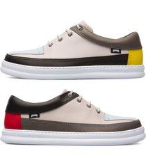 camper twins, sneaker uomo, beige/nero/grigio, misura 46 (eu), k100472-006
