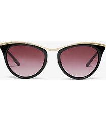 mk occhiali da sole azur - cordovan (marrone) - michael kors