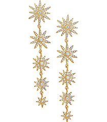 crystal burst dangle earrings
