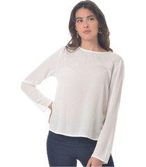 blusa para mujer en rayon crepe blanco color blanco talla l