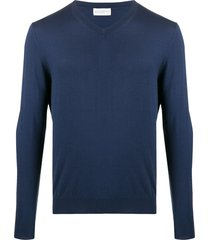 ballantyne regular-fit v-neck pullover - blue