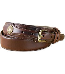 heritage leather shotshell ranger belt, brown, 38