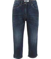 jeans capri elasticizzati con cinta comfort in look usato (nero) - bpc bonprix collection
