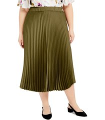 alfani plus size pleated a-line skirt, created for macy's