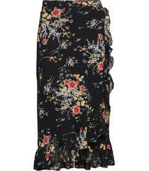 semi couture wrap skirt knälång kjol svart by ti mo