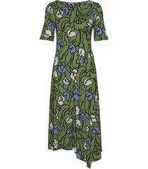 ladies dress, iiris knälång klänning grön nanso