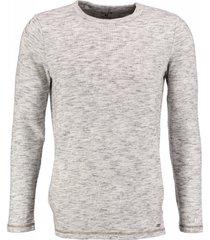 garcia zachte grijze long fit slim fit sweater