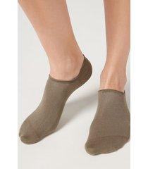 calzedonia unisex cotton no-show socks man brown size 44-45