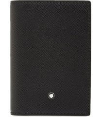 men's montblanc sartorial leather wallet - black